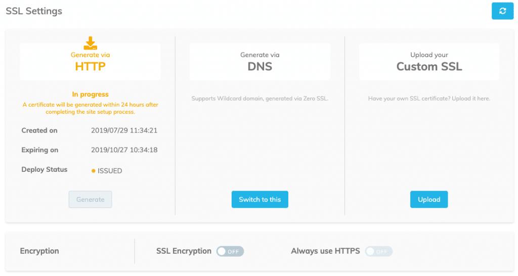 zero ssl installing